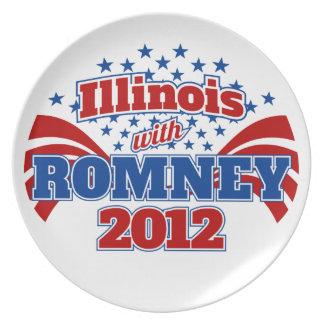 Illinois med Romney 2012 Tallrik