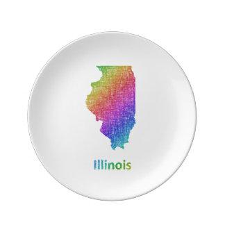 Illinois Porslinstallrik