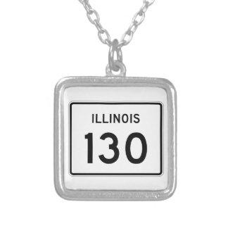 Illinois rutt 130 silverpläterat halsband