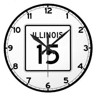 Illinois rutt 15 stor klocka