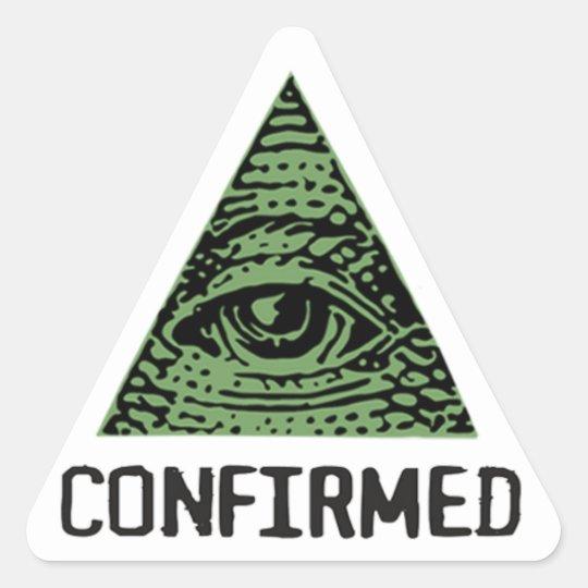 Illuminati Confirmed Sticker Triangelformat Klistermärke