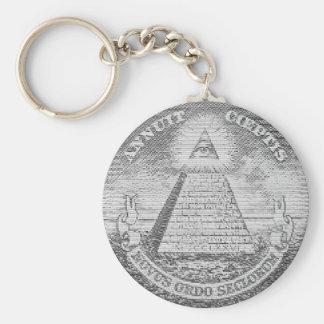 illuminati logo rund nyckelring