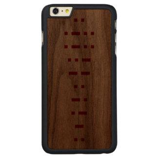ILLUMINATI (morse kodifierar), Carved Valnöt iPhone 6 Plus Slim Skal
