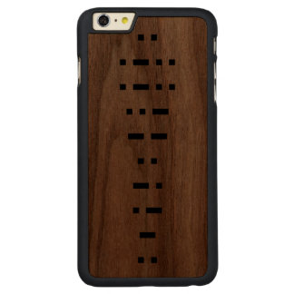 ILLUMINATI (morse kodifierar), Carved® Walnut iPhone 6 Plus Skal