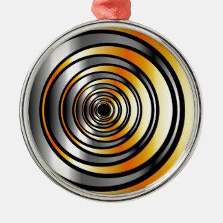 Illusion med metalliska ringar julgransprydnad metall