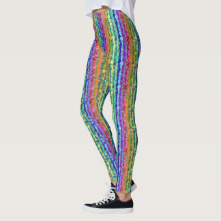 Illusional tändareregnbåge leggings