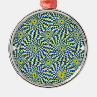 Illusionen cirklar julgransprydnad metall