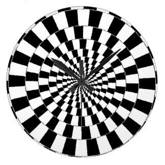 Illusionen tar tid på stor rund klocka