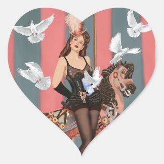 Illusionisten Hjärtformat Klistermärke