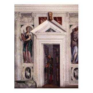 Illusory dörr av Paolo Veronese Vykort