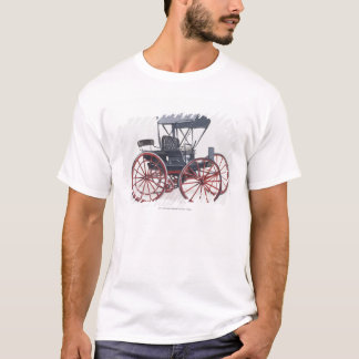 Illustration av den horseless vagnen tee shirt