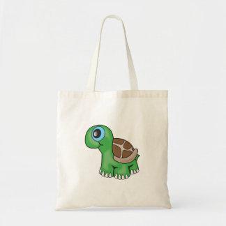 Illustration av en gullig babysköldpadda tygkasse