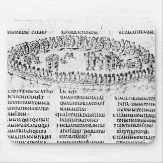 Illustration av en plats från en av psalmsna musmatta