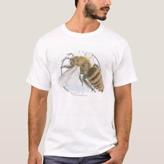 Illustration av européhonungbiet t-shirt