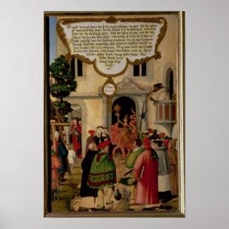 Illustration av Kristus undervisning Poster