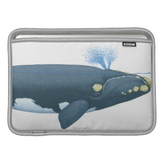 Illustration av North Pacific det högra val MacBook Sleeve