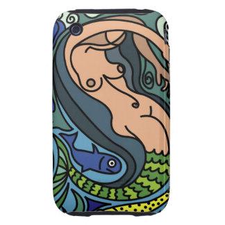 Illustration av sjöjungfrun iPhone 3 tough skydd
