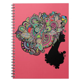 Illustration av skönhet anteckningsbok
