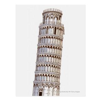 Illustration av torn av Pisa Vykort