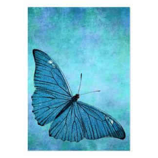 Illustration för 1800s för fjäril för vintagekrick set av breda visitkort
