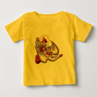 Illustration för antikvitet för vintagemorgås tee shirts