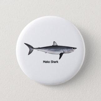 Illustration för haj för Shortfin Mako Standard Knapp Rund 5.7 Cm