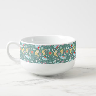 Illustration för kattpaisley tecknad stor kopp för soppa