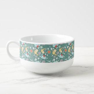 Illustration för kattpaisley tecknad mugg för soppa