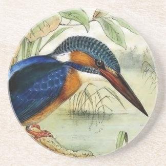 Illustration för Kingfishervintagefågel Underlägg