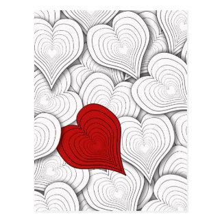 Illustration för lökhjärtavalentin vykort