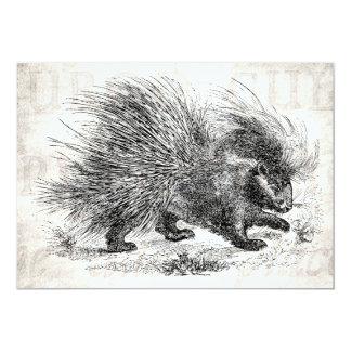 Illustration för Porcupines för 12,7 X 17,8 Cm Inbjudningskort