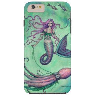 Illustration för sjöjungfru- och tough iPhone 6 plus skal