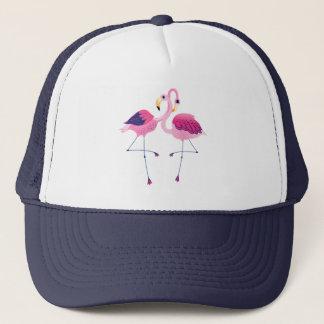 Illustration för två rosa Flamingos Keps
