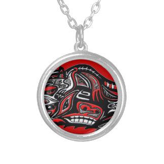 Illustration för utter för indianHaidakonst Halsband Med Rund Hängsmycke