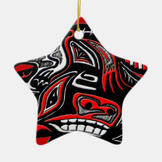 Illustration för utter för indianHaidakonst Julgransdekoration