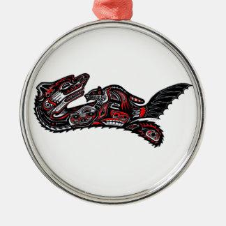 Illustration för utter för indianHaidakonst Julgransprydnad Metall