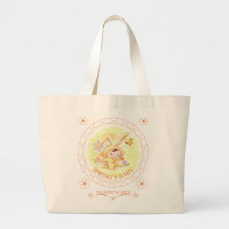 Illustration för vårnyfödd bebiskanin jumbo tygkasse