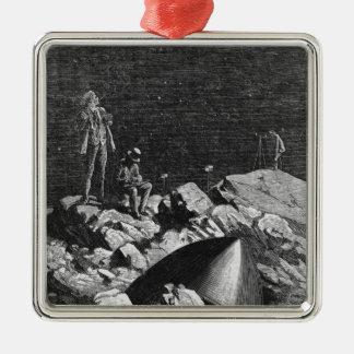 Illustration från 'från jorden till Moon'en Julgransprydnad Metall