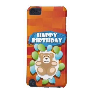 Illustrationgrattis på födelsedagennalle med iPod touch 5G fodral