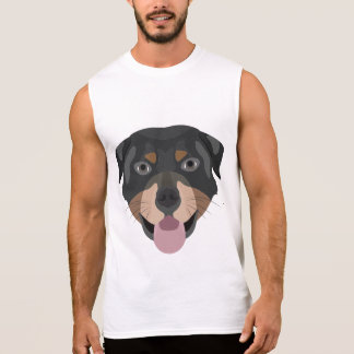 Illustrationhundansikte Rottweiler Ärmlös T-shirt