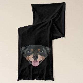 Illustrationhundansikte Rottweiler Halsduk