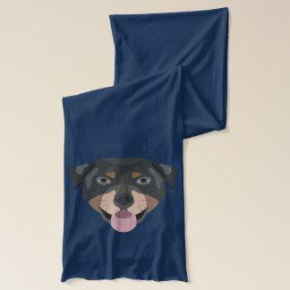 Illustrationhundansikte Rottweiler Sjal