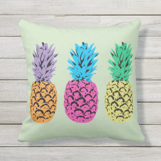 Illustrerad ananasbakgrund prydnadskuddar