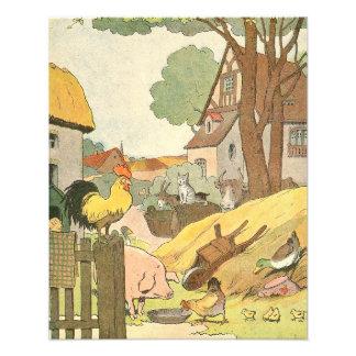 Illustrerad fransk boskap fototryck