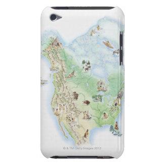 Illustrerad karta av den Nordamerika visningen Barely There iPod Överdrag