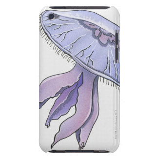 Illustrerad manet iPod touch cover
