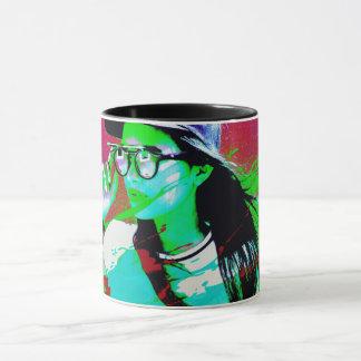 Illustrerad mugg för pop konst