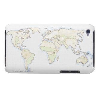 Illustrerad världskarta 2 iPod Case-Mate case