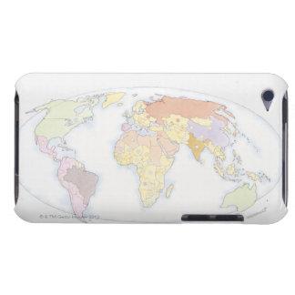 Illustrerad världskarta 3 iPod Case-Mate skydd