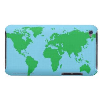 Illustrerad världskarta barely there iPod skydd
